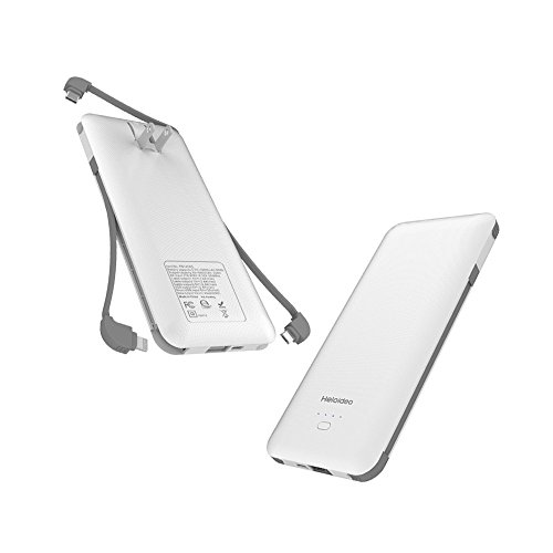 HELOIDEO Power Bank, 5000mAh Portable Charger with Lightning Cable