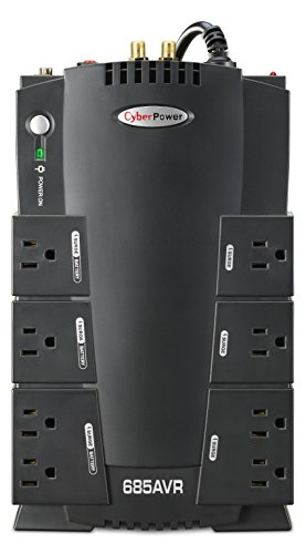 CyberPower CP685AVRG AVR UPS System, 685VA/390W, 8 Outlets