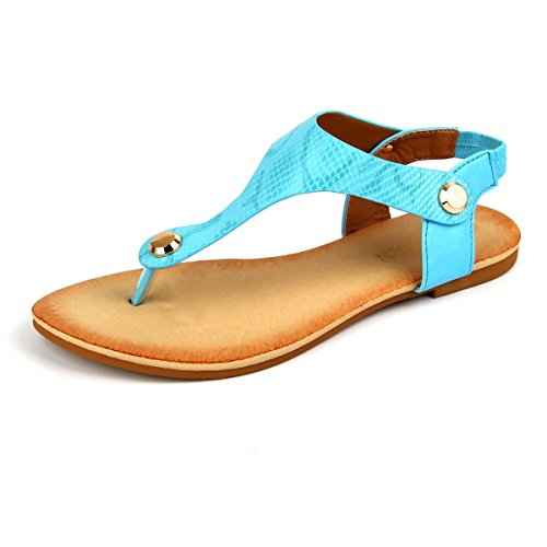fa5f8b07e92 Thong sandals with Nail Accents. Beautiful Design. Artificial Leather Top  Sole and Upper. Adjustable strap. 1 2