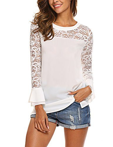 Hurrg Womens Round Neck Basic Loose Solid Pullover Long Sleeve Blouse Top T-Shirts